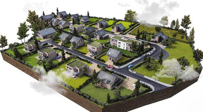 archilime neighborhood architecture vray sketchup