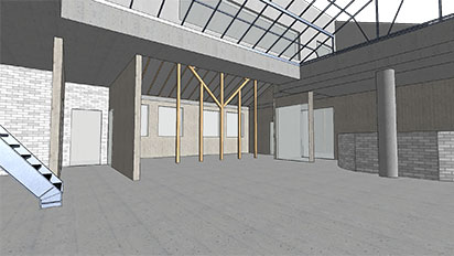 cad 3d central perspective 2